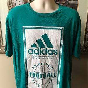 Adidas ~ Football GRIND NOW RISE LATER t-shirt
